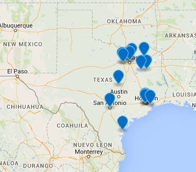 Map of our recently awarded projects